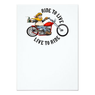biker motorcyclist wrinkles to live card