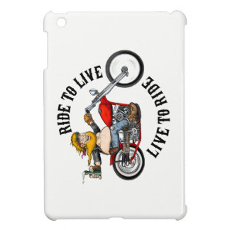 biker motorcyclist wrinkles to live case for the iPad mini