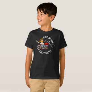 biker motorcyclist wrinkles to live T-Shirt