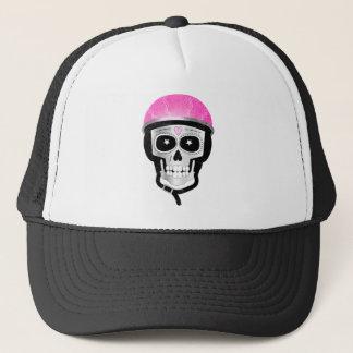 Biker or Cyclist Sugar Skull Trucker Hat
