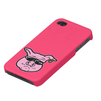 Biker Pig iPhone 4/4S Covers