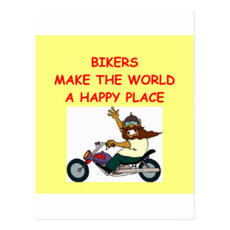 biker postcard