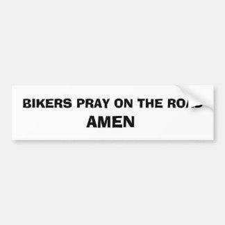 Biker Prayer sticker