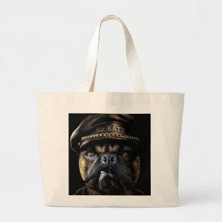 Biker Pug Canvas Bags