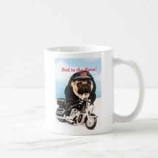 Biker Pug Dog Mug
