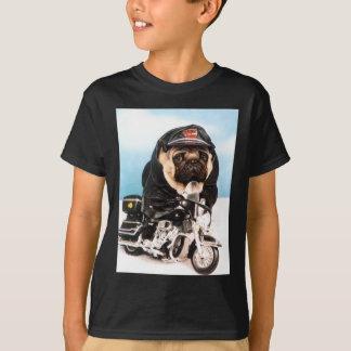 Biker Pug Dog Tee Shirt