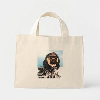 Biker Pug Tote Bag