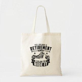 Biker Retirement Tote Bag