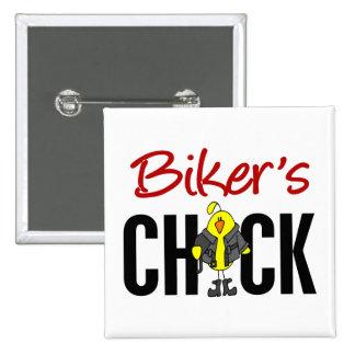 Biker s Chick Pinback Buttons