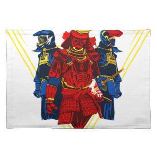 Biker Samurai Crew T-Shirt Placemat