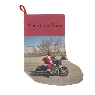 Biker Santa Claus Customizable Christmas Stocking