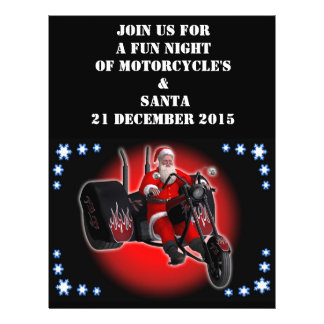 Biker Santa is coming to town Flyers