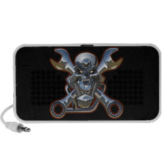 biker skull doodle mp3 speakers