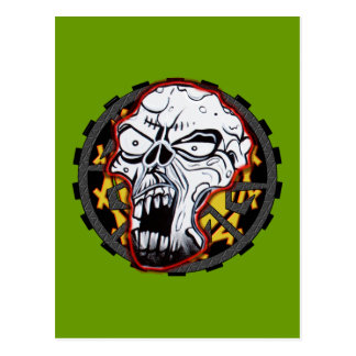 Biker Skull Postcard