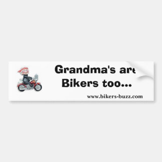 Biker Sticker Grandma Bumper Sticker