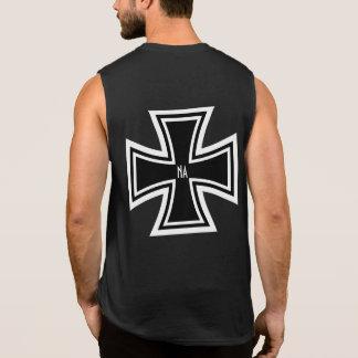 Biker Style NA Narcotics Anonymous Black Sleeveless T-shirts