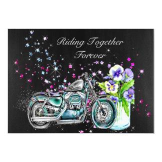 Biker Wedding Invitation with Motorcycle