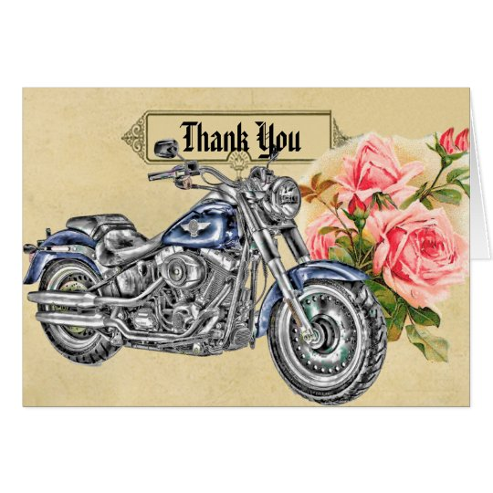 Biker Wedding Thank You Card