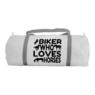 Biker Who Loves Horses Gym Bag