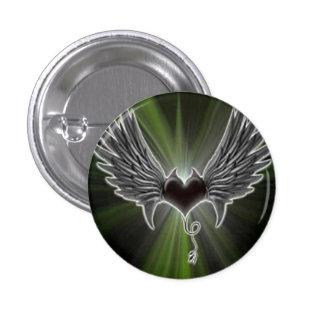 Biker Wings With Heart Pin