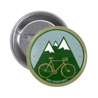 bikers adventure, mountains 6 cm round badge