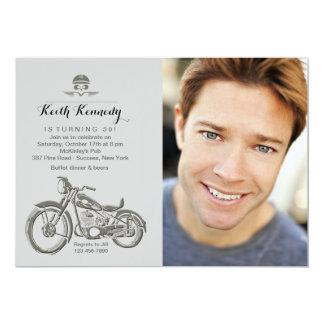 Biker's Birthday Photo Invitation