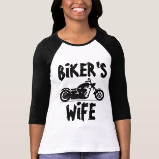 BIKER'S WIFE Ladies Motorcycle T-shirts