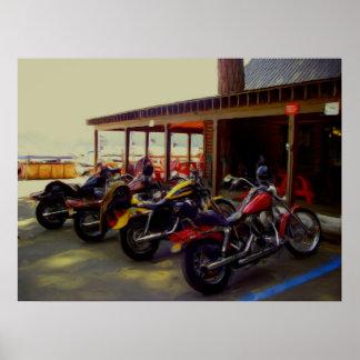 Bikes at the Bar Poster