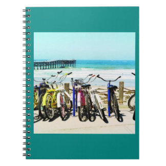 ***BIKES AT THE BEACH*** SPIRAL NOTEBBOOK NOTEBOOK