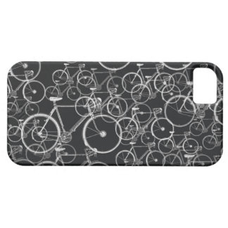 bikes pattern in black and white iPhone 5 cases