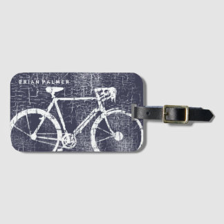 biking / cycling, bicycle inspired luggage tag