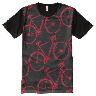 biking cycling black and red bike-themed All-Over print T-Shirt