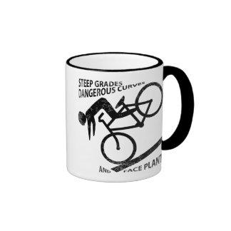 Biking Face Plant Ringer Mug