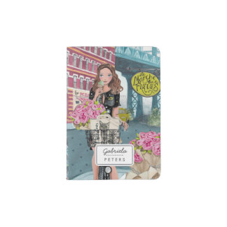 Biking Girl in New York Brooklyn | Passport Holder