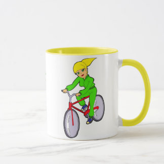 biking girl Mug