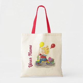 Biking girl small tote bag