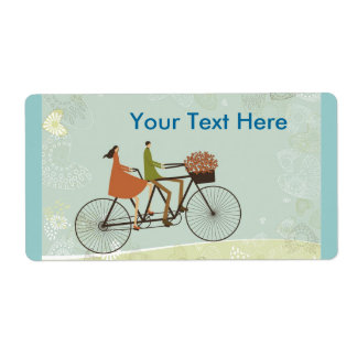 Biking Shipping Label
