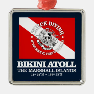 Bikini Atoll (best wrecks) Metal Ornament
