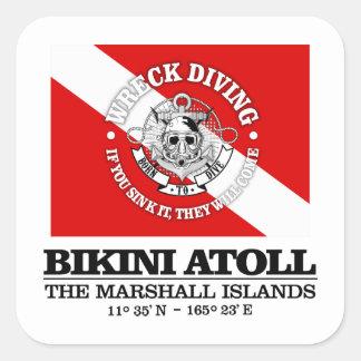 Bikini Atoll (best wrecks) Square Sticker