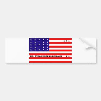 Bikini Atoll flag symbol Bumper Sticker