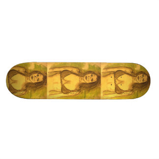 bikini girl art custom skate board