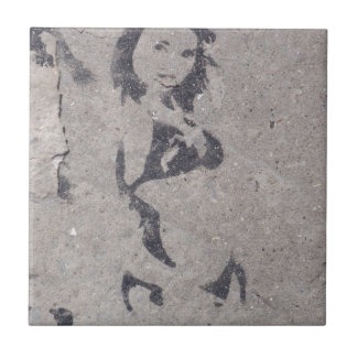 Bikini Girl Street Art Tile