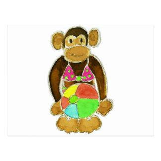 Bikini Monkey Postcard