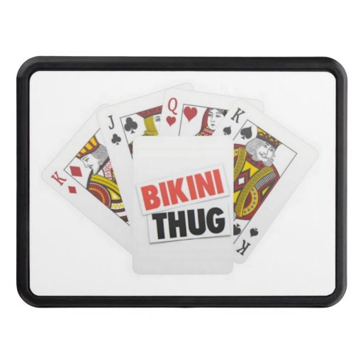 BIKINI THUG CARD TRAILER HITCH COVER