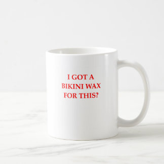 bikini wax coffee mug
