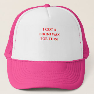 bikini wax trucker hat