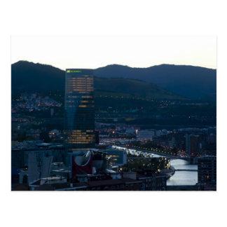 Bilbao to the dusk postcard