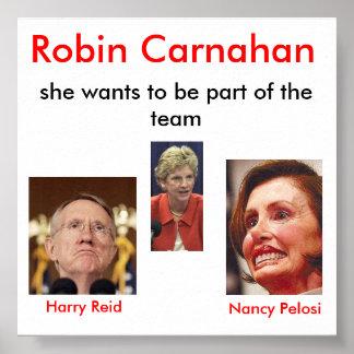 bilde, nancy_pelosi, harry_reid, Robin Carnahan... Poster