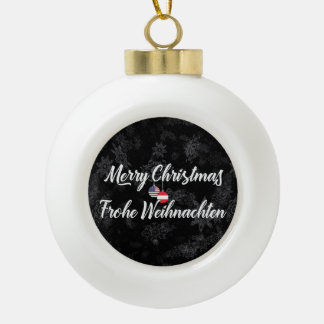 Bilingual Austrian American Holiday Ornament