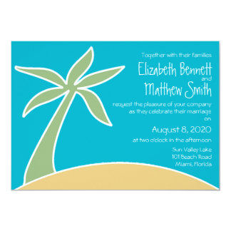 Bilingual Beach Wedding Invitation